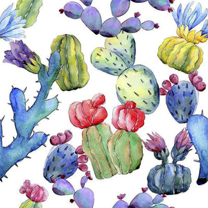 "Crafter's Vinyl Supply Cut Vinyl ORAJET 3651 / 12"" x 12"" Cool Cacti Patterns 1 - Pattern Vinyl and HTV by Crafters Vinyl Supply"