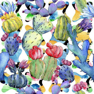 "Crafter's Vinyl Supply Cut Vinyl ORAJET 3651 / 12"" x 12"" Cool Cacti Patterns 11 - Pattern Vinyl and HTV by Crafters Vinyl Supply"