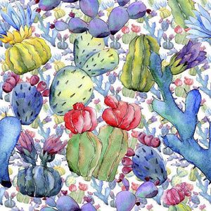 "Crafter's Vinyl Supply Cut Vinyl ORAJET 3651 / 12"" x 12"" Cool Cacti Patterns 7 - Pattern Vinyl and HTV by Crafters Vinyl Supply"