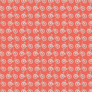"Crafter's Vinyl Supply Cut Vinyl ORAJET 3651 / 12"" x 12"" Coral Ride A Bike - Pattern Vinyl and HTV by Crafters Vinyl Supply"