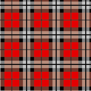 "Crafter's Vinyl Supply Cut Vinyl ORAJET 3651 / 12"" x 12"" Farmer's Brown Plaid - Pattern Vinyl and HTV by Crafters Vinyl Supply"