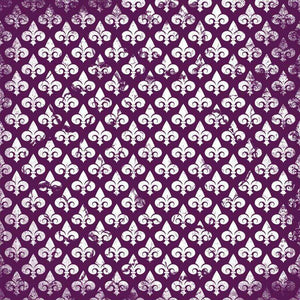 "Crafter's Vinyl Supply Cut Vinyl ORAJET 3651 / 12"" x 12"" Fleur De Lis Patterns 11 - Pattern Vinyl and HTV by Crafters Vinyl Supply"