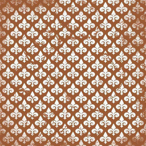 "Crafter's Vinyl Supply Cut Vinyl ORAJET 3651 / 12"" x 12"" Fleur De Lis Patterns 21 - Pattern Vinyl and HTV by Crafters Vinyl Supply"