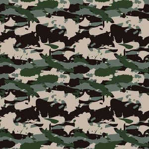 "Crafter's Vinyl Supply Cut Vinyl ORAJET 3651 / 12"" x 12"" Forest Green Grey Camo - Pattern Vinyl and HTV by Crafters Vinyl Supply"