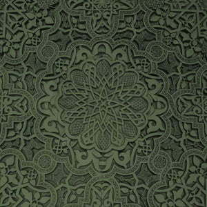 "Crafter's Vinyl Supply Cut Vinyl ORAJET 3651 / 12"" x 12"" Forest Green Old Ceiling - Pattern Vinyl and HTV by Crafters Vinyl Supply"
