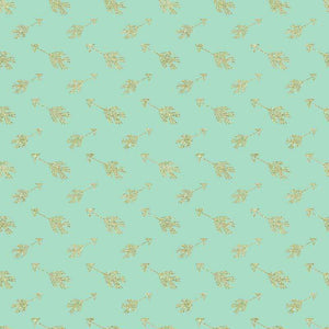 "Crafter's Vinyl Supply Cut Vinyl ORAJET 3651 / 12"" x 12"" Gold Arrows on Mint - Pattern Vinyl and HTV by Crafters Vinyl Supply"