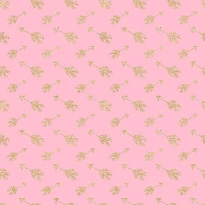 "Crafter's Vinyl Supply Cut Vinyl ORAJET 3651 / 12"" x 12"" Gold Arrows on Pink - Pattern Vinyl and HTV by Crafters Vinyl Supply"