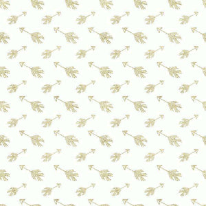 "Crafter's Vinyl Supply Cut Vinyl ORAJET 3651 / 12"" x 12"" Gold Arrows on White - Pattern Vinyl and HTV by Crafters Vinyl Supply"