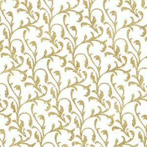 "Crafter's Vinyl Supply Cut Vinyl ORAJET 3651 / 12"" x 12"" Gold Damask on White - Pattern Vinyl and HTV by Crafters Vinyl Supply"