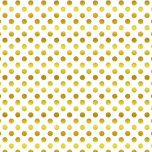 "Crafter's Vinyl Supply Cut Vinyl ORAJET 3651 / 12"" x 12"" Gold Foil Polka Dots - Pattern Vinyl and HTV by Crafters Vinyl Supply"