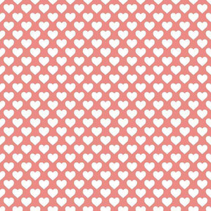 "Crafter's Vinyl Supply Cut Vinyl ORAJET 3651 / 12"" x 12"" Hearts on Pink - Pattern Vinyl and HTV by Crafters Vinyl Supply"