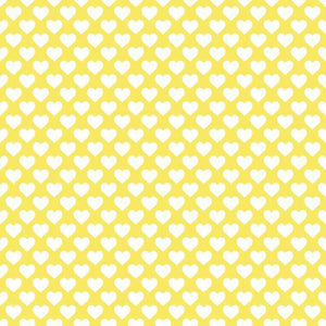 "Crafter's Vinyl Supply Cut Vinyl ORAJET 3651 / 12"" x 12"" Hearts on Yellow - Pattern Vinyl and HTV by Crafters Vinyl Supply"