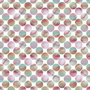 "Crafter's Vinyl Supply Cut Vinyl ORAJET 3651 / 12"" x 12"" Large Pastel Polka Dots - Pattern Vinyl and HTV by Crafters Vinyl Supply"