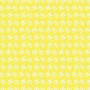 "Crafter's Vinyl Supply Cut Vinyl ORAJET 3651 / 12"" x 12"" Light Yellow Ride A Bike - Pattern Vinyl and HTV by Crafters Vinyl Supply"