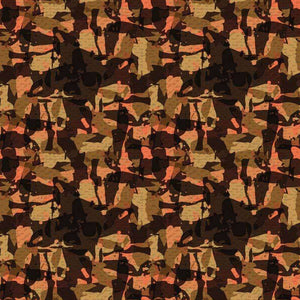 "Crafter's Vinyl Supply Cut Vinyl ORAJET 3651 / 12"" x 12"" Marsh Brown With Coral Camo - Pattern Vinyl and HTV by Crafters Vinyl Supply"