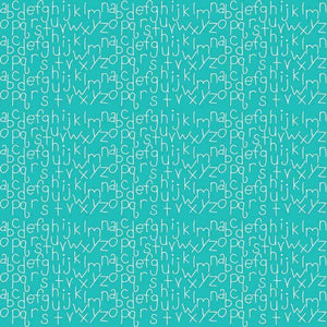 "Crafter's Vinyl Supply Cut Vinyl ORAJET 3651 / 12"" x 12"" Mint Alphabet Digital Paper - Pattern Vinyl and HTV by Crafters Vinyl Supply"