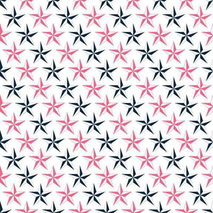 "Crafter's Vinyl Supply Cut Vinyl ORAJET 3651 / 12"" x 12"" Nautical in Pink and Navy Blue Patterns 9 - Pattern Vinyl and HTV by Crafters Vinyl Supply"