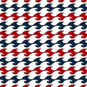 "Crafter's Vinyl Supply Cut Vinyl ORAJET 3651 / 12"" x 12"" Nautical in Red and Navy Patterns 6 - Pattern Vinyl and HTV by Crafters Vinyl Supply"