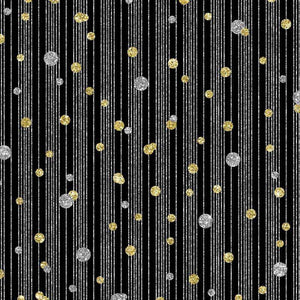 "Crafter's Vinyl Supply Cut Vinyl ORAJET 3651 / 12"" x 12"" New Year's Dots & Stripes Black - Pattern Vinyl and HTV by Crafters Vinyl Supply"