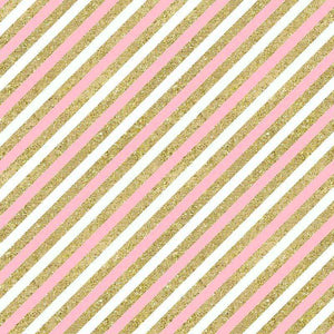 "Crafter's Vinyl Supply Cut Vinyl ORAJET 3651 / 12"" x 12"" Pink & Gold Diagonal Stripes - Pattern Vinyl and HTV by Crafters Vinyl Supply"