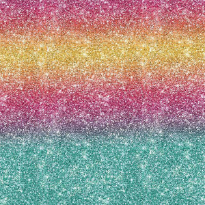 "Crafter's Vinyl Supply Cut Vinyl ORAJET 3651 / 12"" x 12"" Rainbow Printed Faux Glitter #23 - Pattern Vinyl and HTV by Crafters Vinyl Supply"