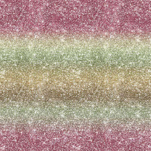 "Crafter's Vinyl Supply Cut Vinyl ORAJET 3651 / 12"" x 12"" Rainbow Printed Faux Glitter #3 - Pattern Vinyl and HTV by Crafters Vinyl Supply"