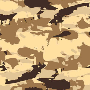 "Crafter's Vinyl Supply Cut Vinyl ORAJET 3651 / 12"" x 12"" Sandy Beach Camo Large - Pattern Vinyl and HTV by Crafters Vinyl Supply"