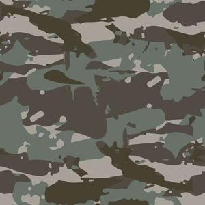 "Crafter's Vinyl Supply Cut Vinyl ORAJET 3651 / 12"" x 12"" Saturated Army Green Camo - Pattern Vinyl and HTV by Crafters Vinyl Supply"