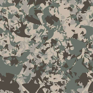 "Crafter's Vinyl Supply Cut Vinyl ORAJET 3651 / 12"" x 12"" Saturated Forest Grey Camo Small - Pattern Vinyl and HTV by Crafters Vinyl Supply"