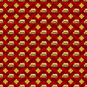 "Crafter's Vinyl Supply Cut Vinyl ORAJET 3651 / 12"" x 12"" School Bus - Pattern Vinyl and HTV by Crafters Vinyl Supply"
