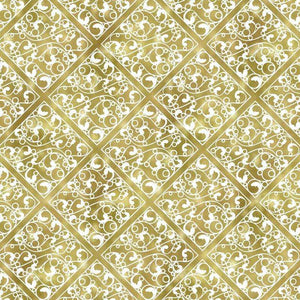 "Crafter's Vinyl Supply Cut Vinyl ORAJET 3651 / 12"" x 12"" Silver & Gold Damask #13 - Pattern Vinyl and HTV by Crafters Vinyl Supply"