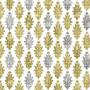"Crafter's Vinyl Supply Cut Vinyl ORAJET 3651 / 12"" x 12"" Silver & Gold Damask #9 - Pattern Vinyl and HTV by Crafters Vinyl Supply"