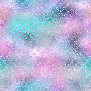 "Crafter's Vinyl Supply Cut Vinyl ORAJET 3651 / 12"" x 12"" Sparkling Mermaid Patterns 12 - Pattern Vinyl and HTV by Crafters Vinyl Supply"