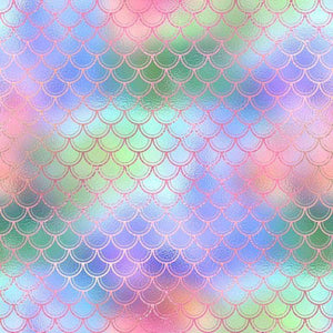 "Crafter's Vinyl Supply Cut Vinyl ORAJET 3651 / 12"" x 12"" Sparkling Mermaid Patterns 6 - Pattern Vinyl and HTV by Crafters Vinyl Supply"