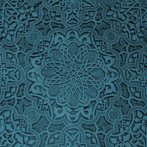 "Crafter's Vinyl Supply Cut Vinyl ORAJET 3651 / 12"" x 12"" Teal Blue Old Ceiling - Pattern Vinyl and HTV by Crafters Vinyl Supply"