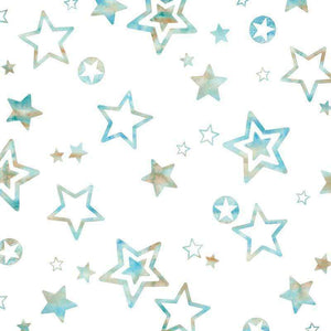 "Crafter's Vinyl Supply Cut Vinyl ORAJET 3651 / 12"" x 12"" Teal Stars in the Sky - Pattern Vinyl and HTV by Crafters Vinyl Supply"
