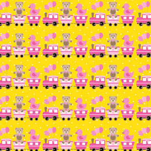 "Crafter's Vinyl Supply Cut Vinyl ORAJET 3651 / 12"" x 12"" Travel by Train - Pattern Vinyl and HTV by Crafters Vinyl Supply"