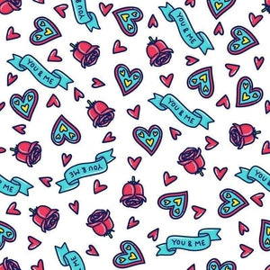 "Crafter's Vinyl Supply Cut Vinyl ORAJET 3651 / 12"" x 12"" Valentine Day Patterns 31 - Pattern Vinyl and HTV by Crafters Vinyl Supply"