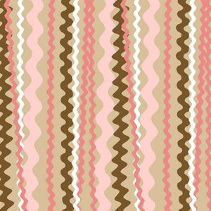 "Crafter's Vinyl Supply Cut Vinyl ORAJET 3651 / 12"" x 12"" Waves in Pink & Brown - Pattern Vinyl and HTV by Crafters Vinyl Supply"