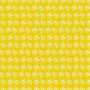 "Crafter's Vinyl Supply Cut Vinyl ORAJET 3651 / 12"" x 12"" Yellow Ride A Bike - Pattern Vinyl and HTV by Crafters Vinyl Supply"