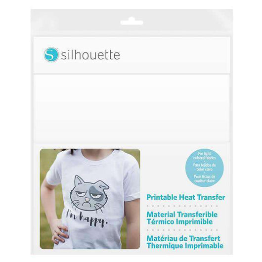 photograph relating to Printable Heat Transfer Vinyl Silhouette named Silhouette Printable HTV for Mild Cloth