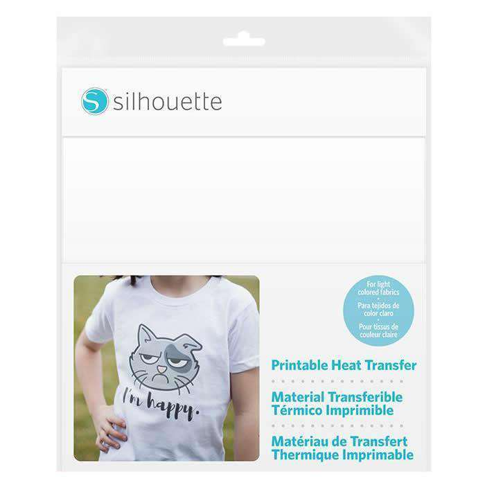 picture regarding Silhouette Printable Heat Transfer named Silhouette Printable HTV for Mild Cloth