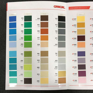 Crafter's Vinyl Supply More ORACAL® 631 Colour Chart by Crafters Vinyl Supply