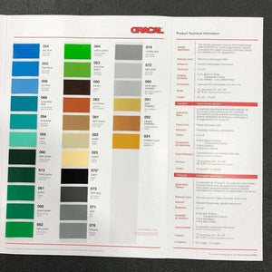 Crafter's Vinyl Supply More ORACAL® 651 Colour Chart by Crafters Vinyl Supply