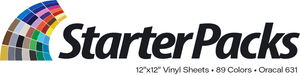 Crafter's Vinyl Supply Oracal 631 Starter Pack - 89 Colors - 12x12 Inch Sheets by Crafters Vinyl Supply