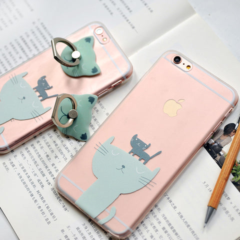MaoXin Artdesign iPhone 6/6s/6 Plus/6s Plus Case Gift Set (Twin Cats)