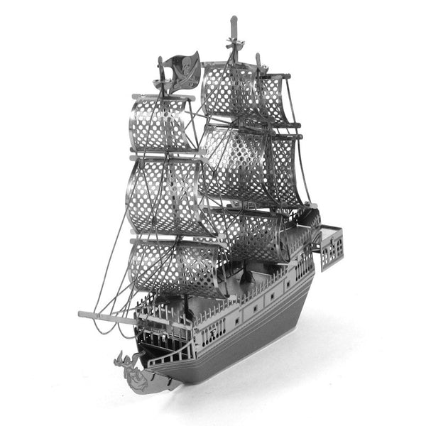 3D Laser Cut Metallic Nano Puzzle - The Black Pearl