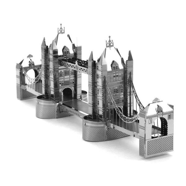 3D Laser Cut Metallic Nano Puzzle - London Bridge Tower