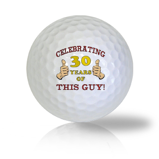 Happy 30th Birthday Golf Balls - Half Price Golf Balls - Canada's Source For Premium Used & Recycled Golf Balls