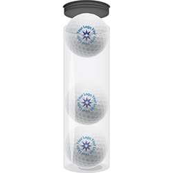 Custom Packaging - 4 Tubes Of 3 Balls Each (Holds One Dozen Balls) - Half Price Golf Balls - Canada's Source For Premium Used & Recycled Golf Balls